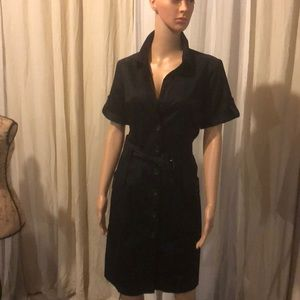 Black cotton dress. Light weight